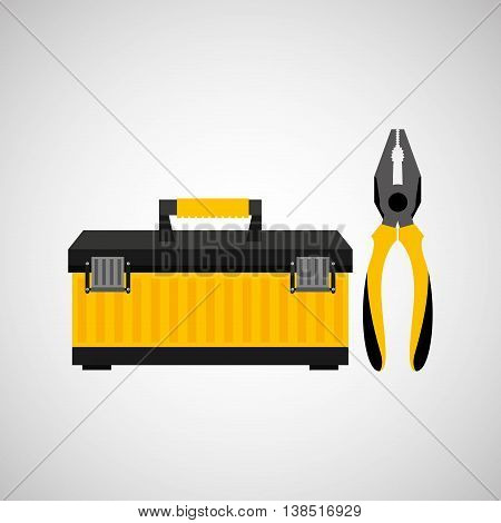 Wire Stripper and construction tool icon, vector illustration