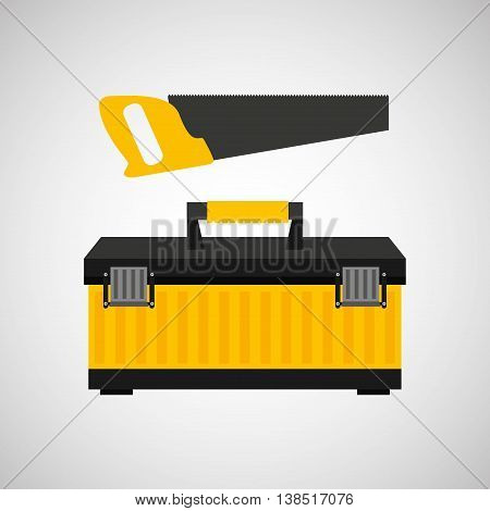 Coping saw construction tool icon, vector illustration