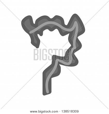 Small, intestines, health icon vector image. Can also be used for human anatomy. Suitable for mobile apps, web apps and print media.