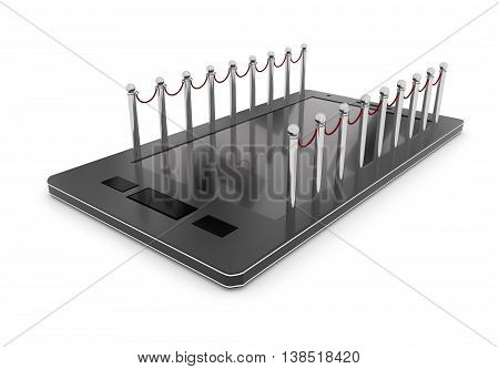 3D Mobile Phone With Stanchions Concept