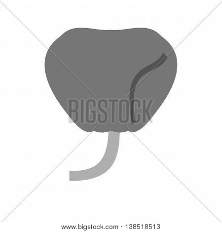 Prostate, gland, system icon vector image. Can also be used for human anatomy. Suitable for mobile apps, web apps and print media.