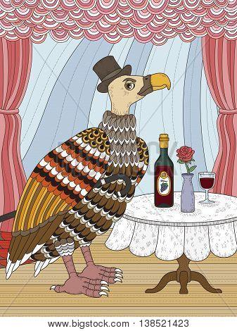 Condor Gentleman Coloring Page