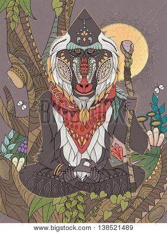 Wisdom Elder Baboon