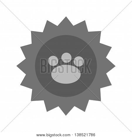 Pet, stamp, animal icon vector image. Can also be used for pet shop. Suitable for mobile apps, web apps and print media.