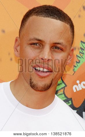 Stephen Curry at the Nickelodeon Kids' Choice Sports Awards 2016 held at the UCLA's Pauley Pavilion in Westwood, USA on July 14, 2016.