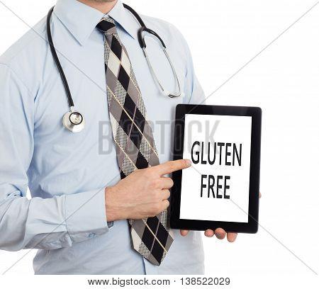 Doctor Holding Tablet - Gluten Free