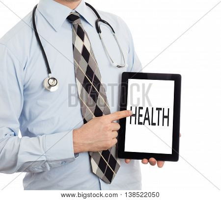 Doctor Holding Tablet - Health