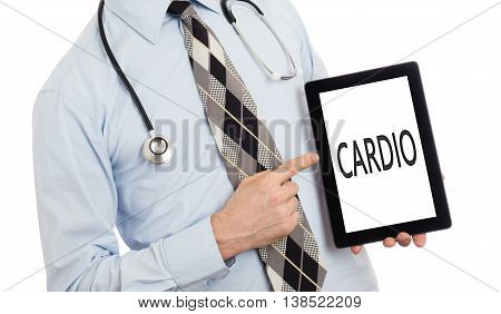 Doctor Holding Tablet - Cardio