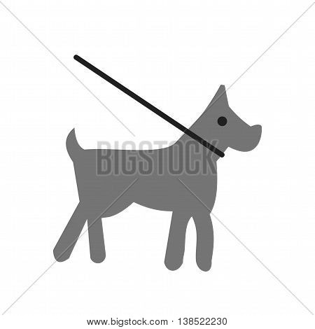 Dog, leash, training icon vector image. Can also be used for pet shop. Suitable for use on web apps, mobile apps and print media.
