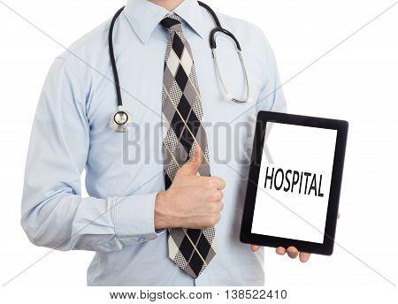 Doctor Holding Tablet - Hospital