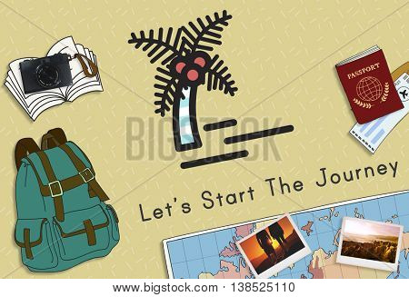 Let's Start The Journey Travel Concept