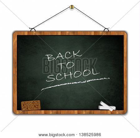 blackboard grunge, back to school, wood frame green smudge vector
