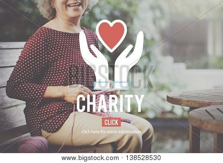 Charity Care Social Help Volunteer Concept