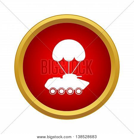 Delivery of military vehicle icon in simple style on a white background