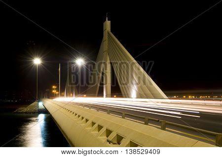 Shaikh Isa bin Salman bridge in Bahrain