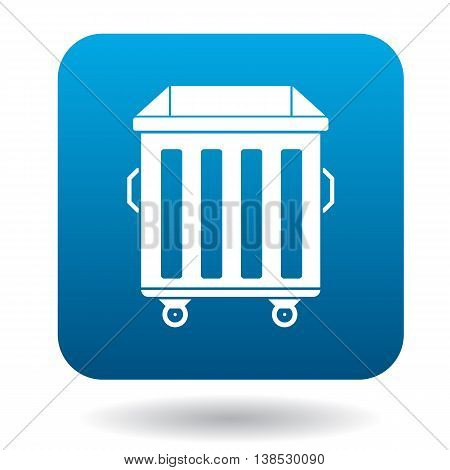 Garbage container icon in simple style on a white background