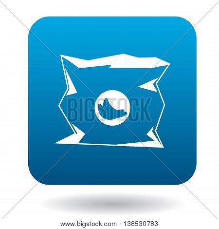 Used packaging icon in simple style on a white background