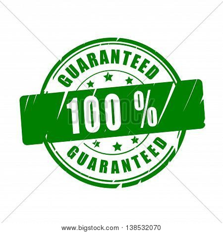 100 % guaranteed vector illustration stamp on white background