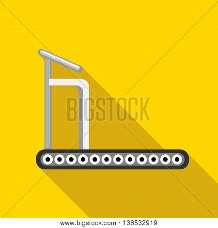 Treadmill icon in flat style with long shadow