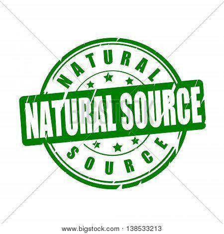 Natural source vector illustration stamp on white background