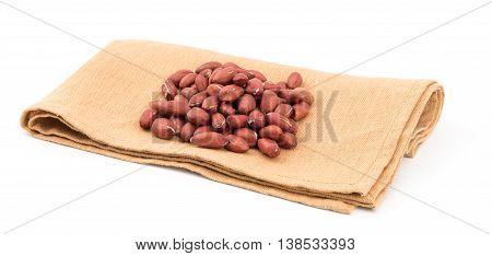peanut isolated on white background. peanut isolated on white background.