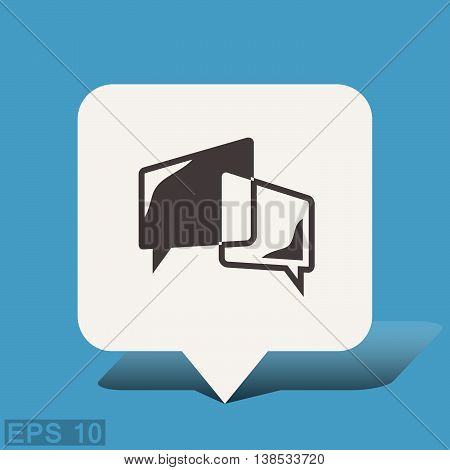 Pictograph of message or chat. Vector concept illustration for design. Eps 10