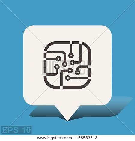 Pictograph of circuit board. Vector concept illustration for design. Eps 10