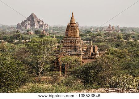 The Temples of Bagan (Pagan) Mandalay Myanmar. BURMA
