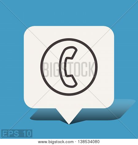 Pictograph of phone. Vector concept illustration for design. Eps 10