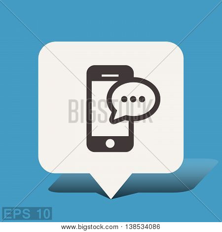 Pictograph of message or chat on smartphone. Vector concept illustration for design. Eps 10