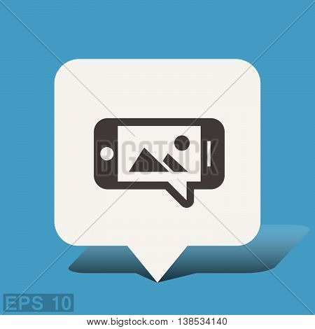 Pictograph of image or photo on smartphone. Vector concept illustration for design. Eps 10