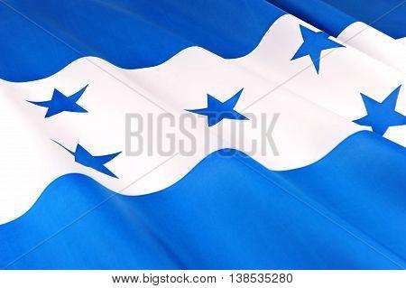 Flag of Honduras. Close-up of the National flag of Honduras.