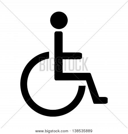 Disabled handicap vector icon. Wheelchair. Disabled parking only. Disabled sign