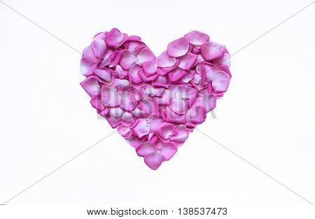 Heart of rose petals. The gentle rose-petals put in in the form of heart