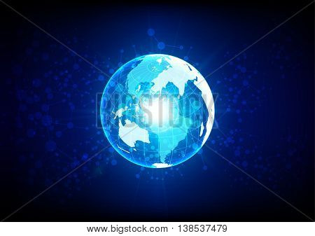 abstract global network technology concept. illustration vector design