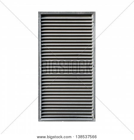 Metal Ventilation Grille Isolated On White