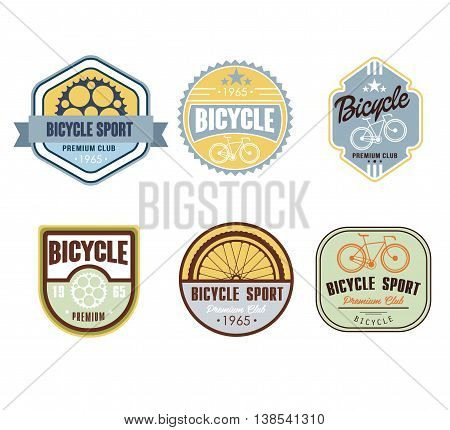 Typographic Bicycle Themed Label Design Set - Bike Shop and Service