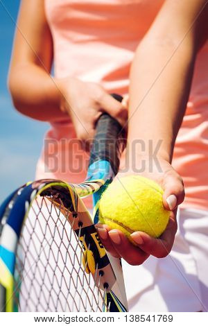 tennis player plays tennis on the tennis court