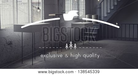 Exclusive and High Quality Brand Markeing Copy Space Concept