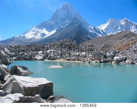 Blue Lake And Shivling Mt.