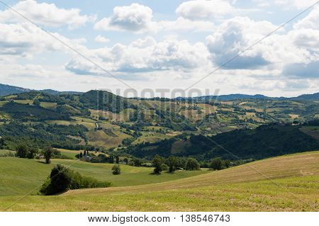 Emilia Romagna countryside in travel Italy panorama