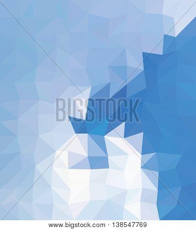 Multicolor blue triangles. Blue origami style triangles.