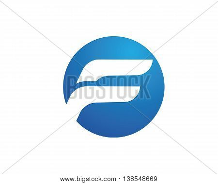F Letter business Logo template vector icon