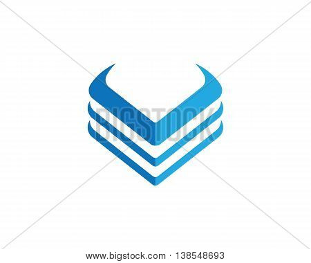 V Letter Logo Template icon vector design