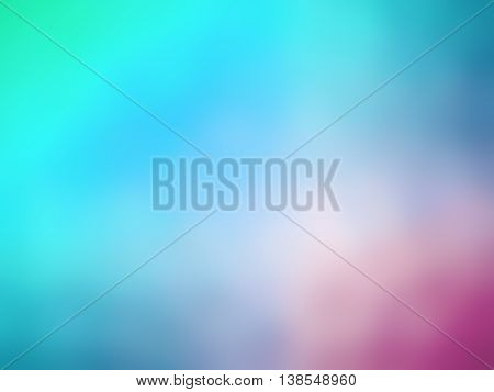 Gradient rainbow pink bluecolored blurred background for professional use.