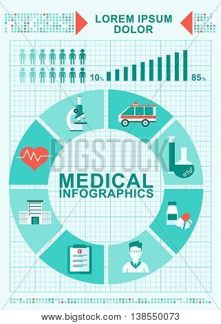 Medical Infographics Concept Diagram