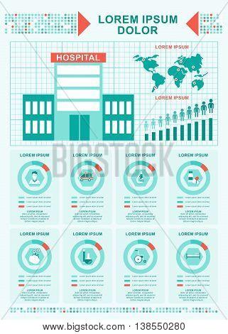 Medical Concept Hospital Infographics