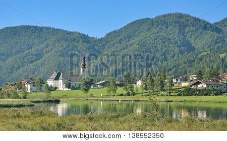 idyllic Village of Sankt Ulrich am Pillersee near Kitzbuehel in Tirol,Alps,Austria