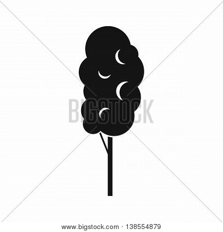 Tall wood icon in simple style. Plants and nature symbol isolated vector illustration