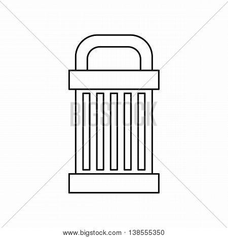 Trash icon in outline style. Garbage symbol isolated vector illustration